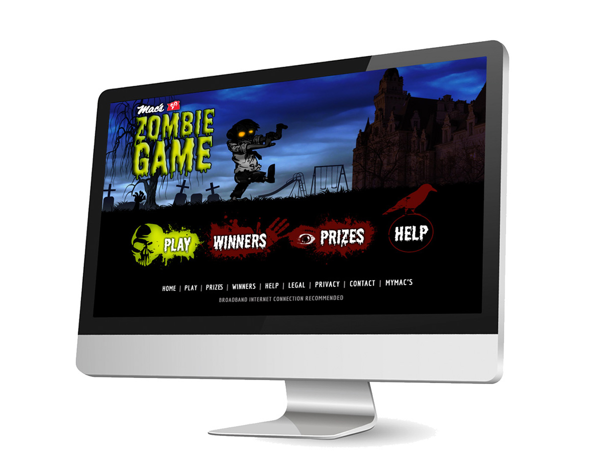 Zombie Game Website
