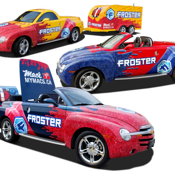 Mac's Froster Street Team Vehicle Wraps