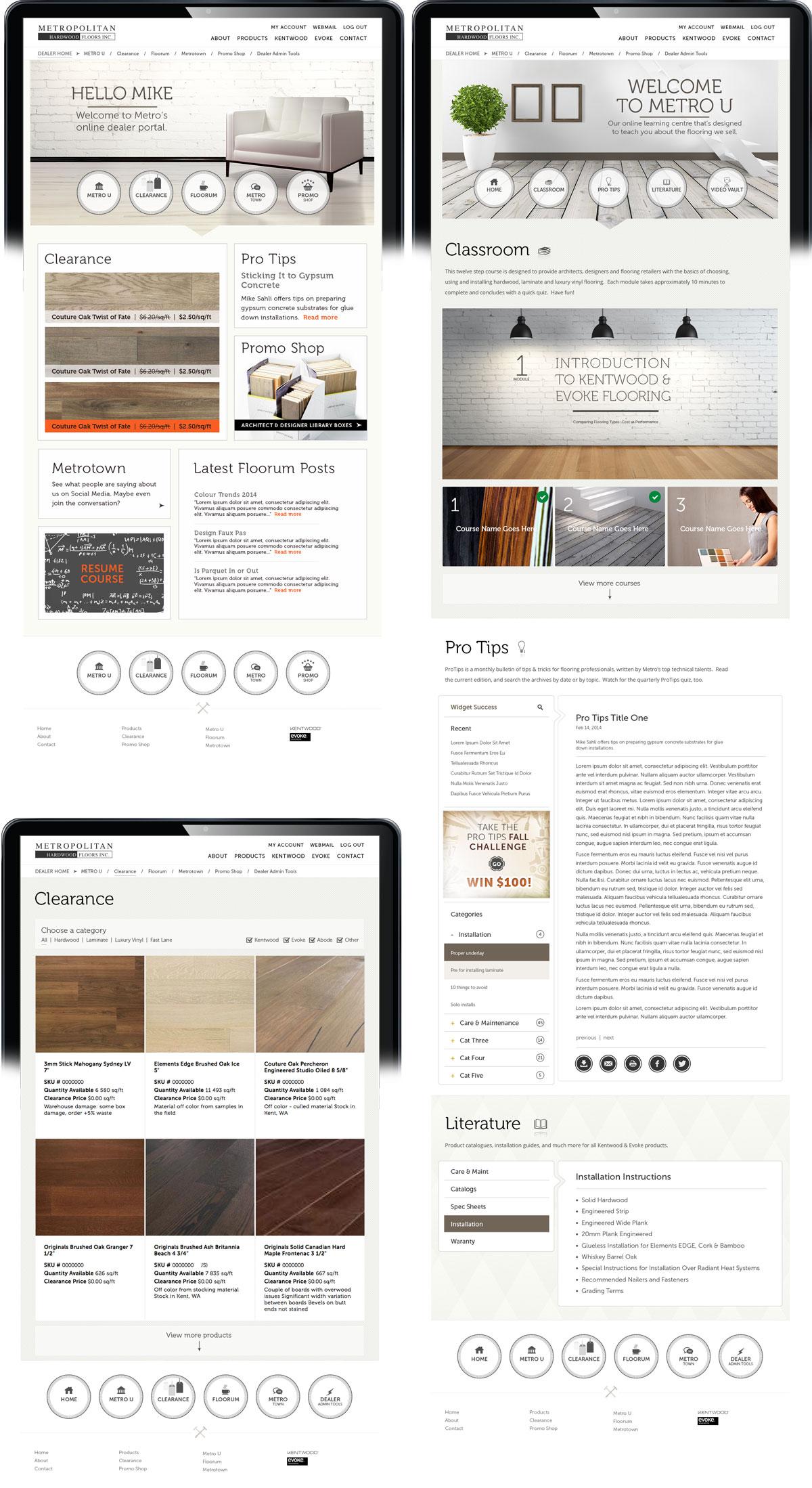 Metropolitan Hardwood Floors Website Design